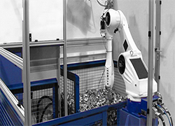 robot bin picking with HYUNDAI robot