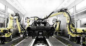FANUC robots for car sanding - offline prorammed with AUTOMAPPPS