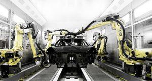 FANUC Roboter für das Schleifen von Autos - offline programmiert mit AUTOMAPPPS
