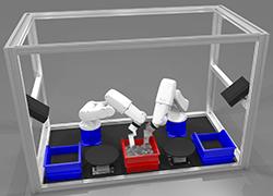 Griff in die Kiste mit 2 DENSO Robotern