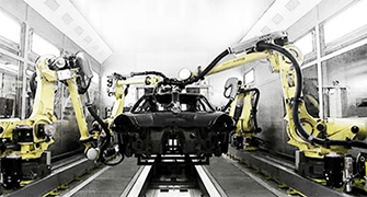 multi robot car sanding - using offline programming software - for FANUC robots