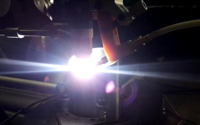 Roboter Offline-Programmierung für TechMan Cobot beim Schweißen